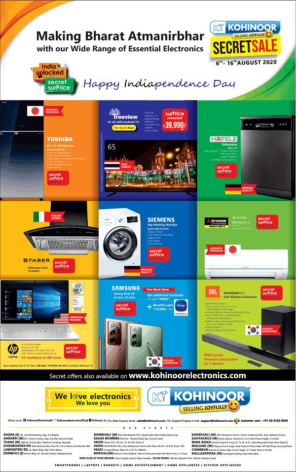 Kohinoor Electronics offers India