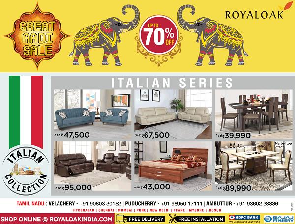 Royal Oak offers India