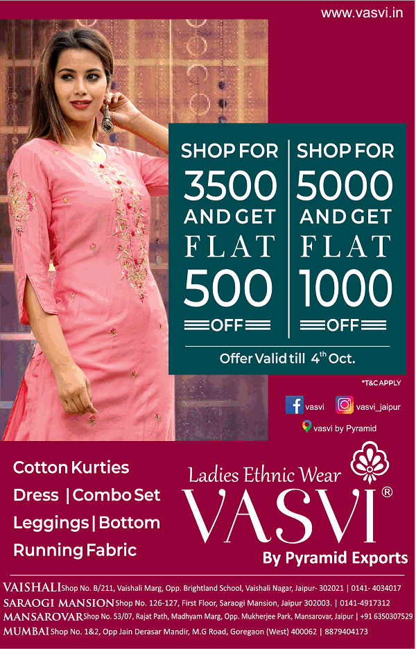 Vasvi offers India