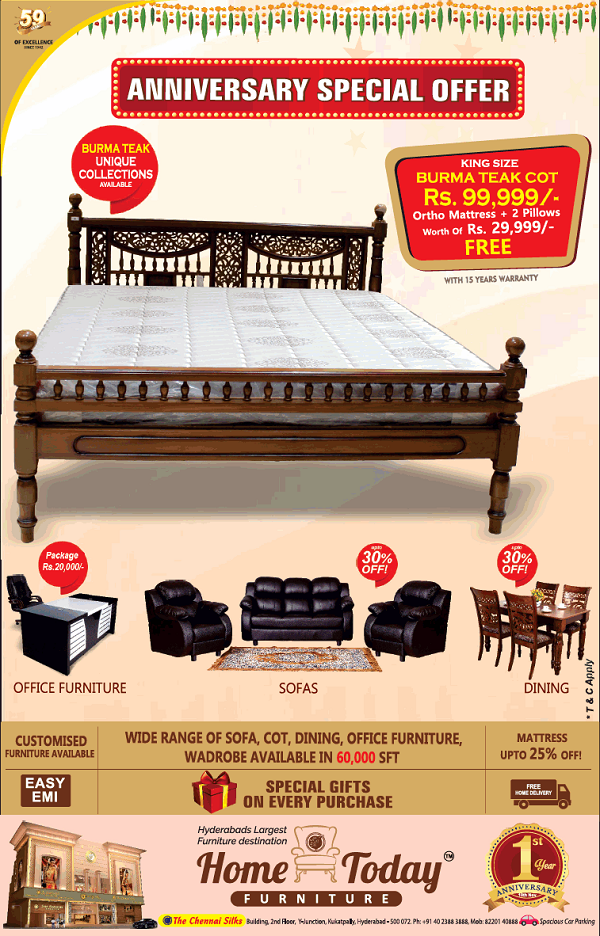Home Today Furniture offers India