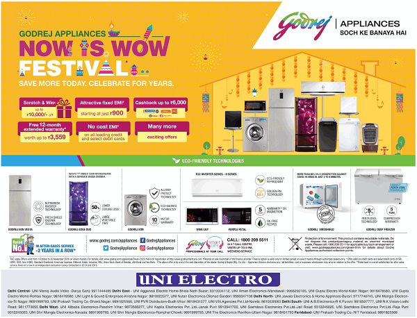 Godrej Appliances offers India
