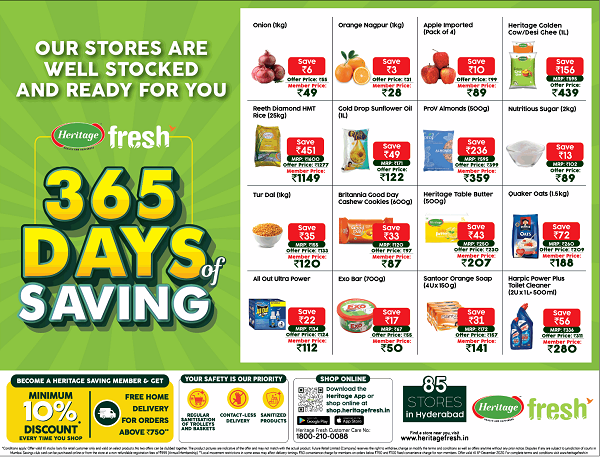 Heritage Fresh offers India