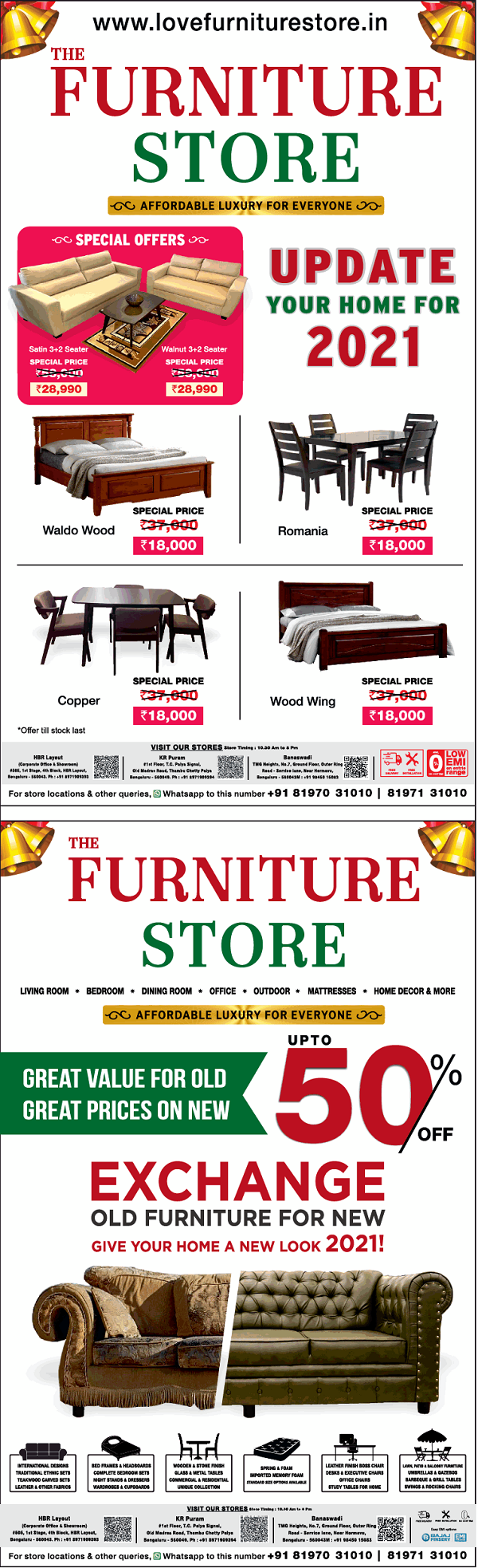 The Furniture Store offers India