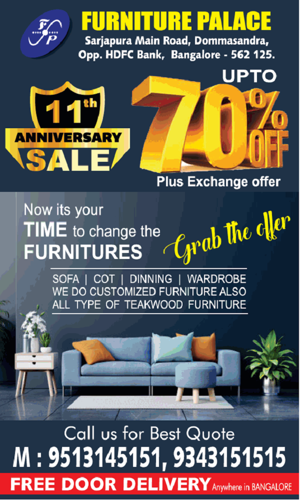 Furniture Palace offers India