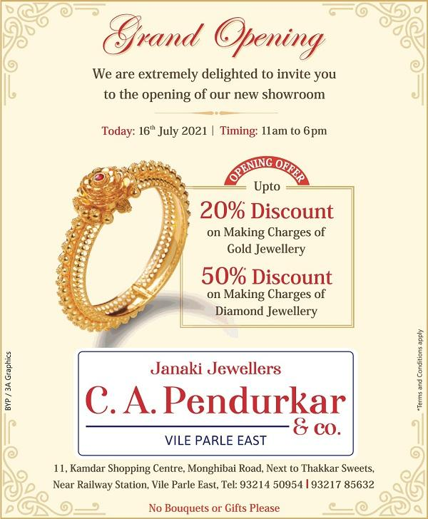 Janaki Jewellers and C A Pendrukar offers India