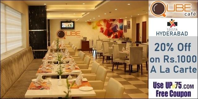 Qube Cafe at Hotel Siesta Hitech offers India