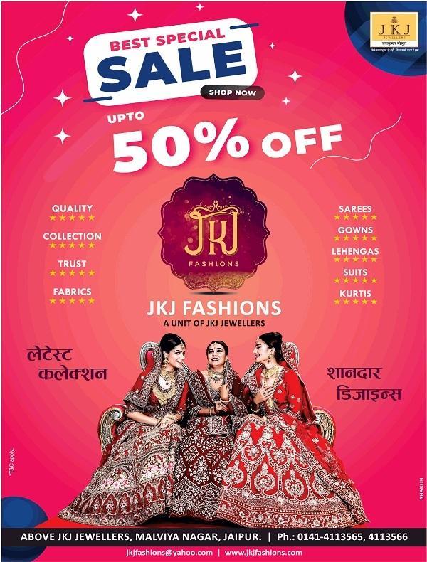 JKJ Fashions offers India