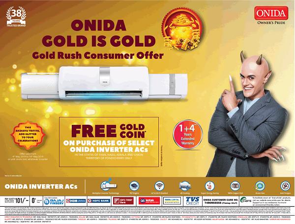 Onida offers India