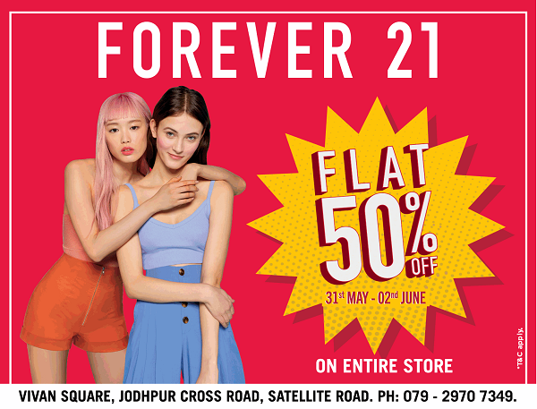 Forever 21 offers India