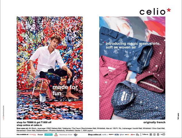Celio offers India