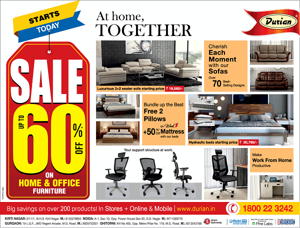 Durian Furniture offers India