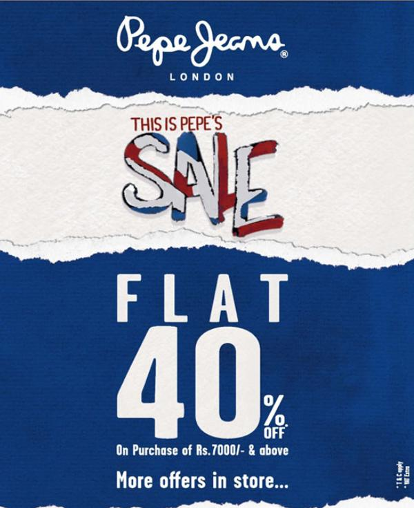 Pepe Jeans Hyderabad Big Sale Pepe Jeans Discount Offer Deals 2021