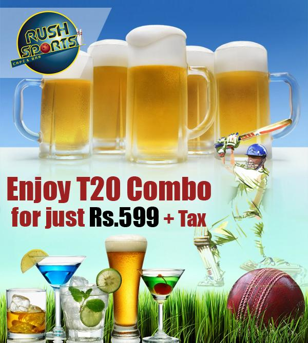 Rush Sports Bar offers India