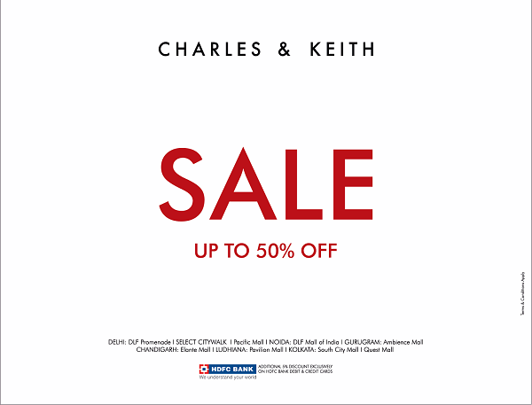 Charles and Keith offers India