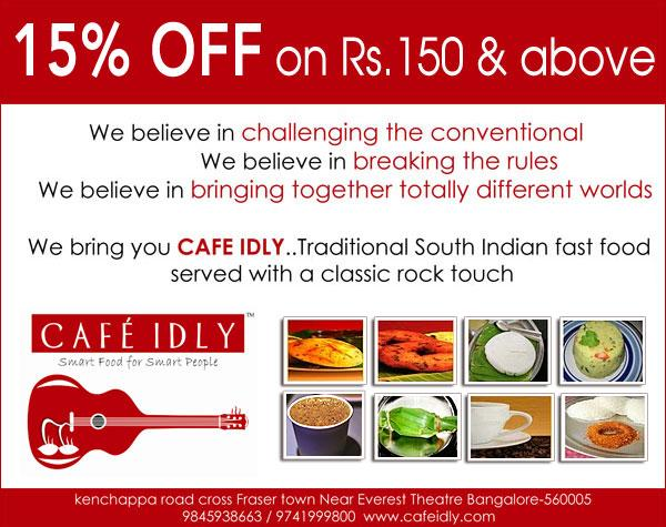 Cafe Idly offers India