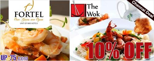The Wok at Fortel Hotel offers India