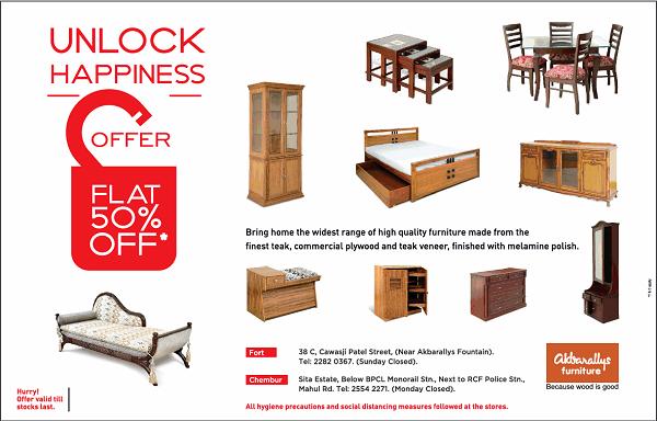 Akbarallys Furniture offers India