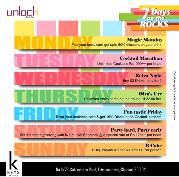 Unlock Bar offers India