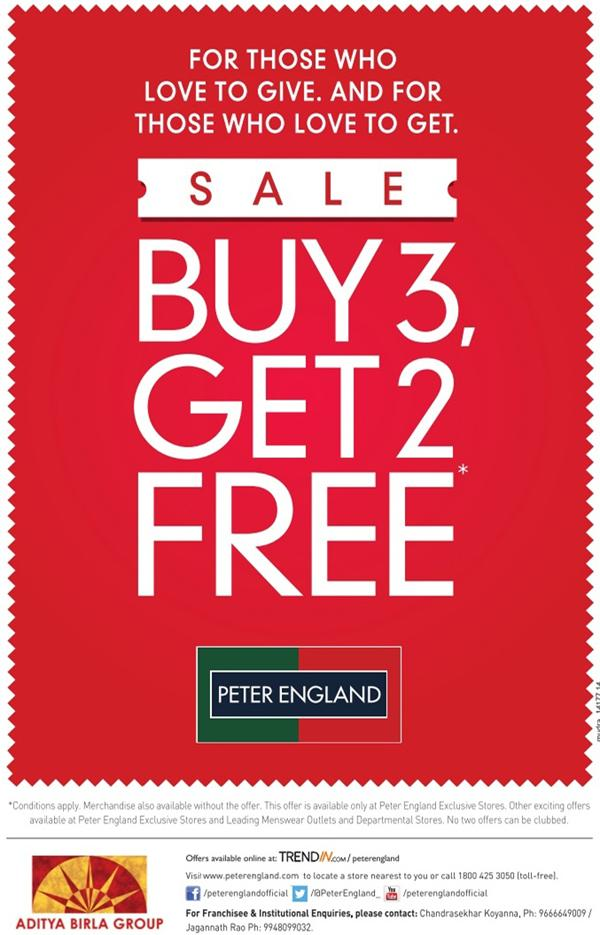Peter England offers India