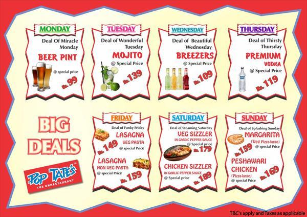Pop Tate's offers India