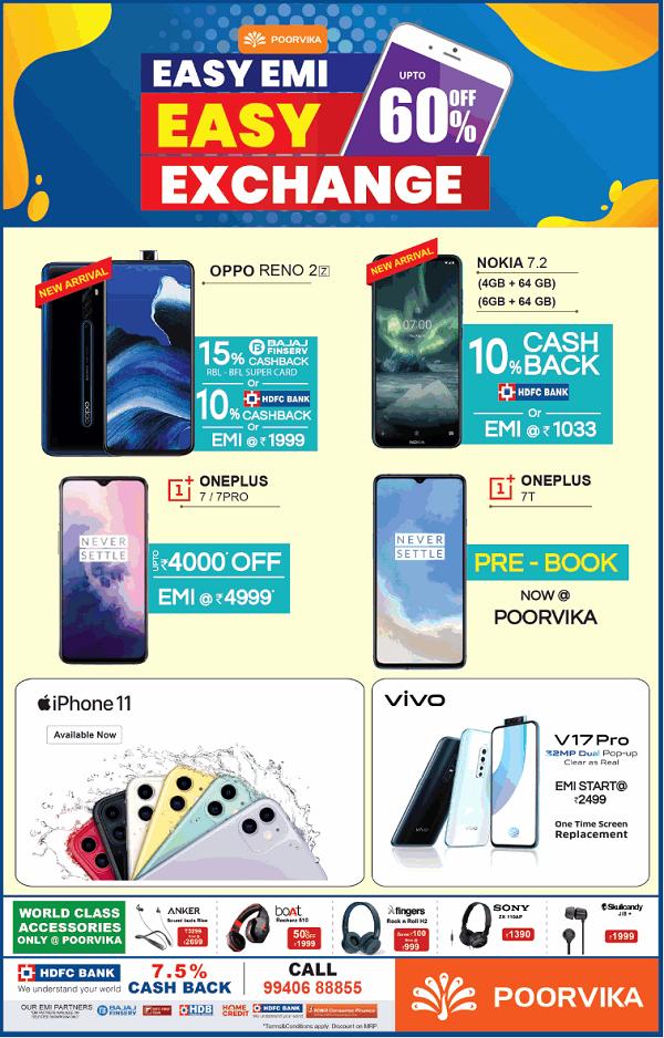 Poorvika Mobile World offers India