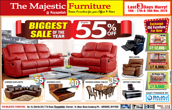 The Majestic Furniture offers India