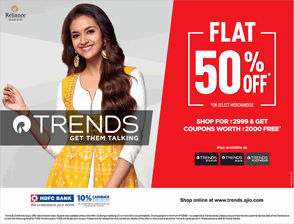 Reliance Trends offers India