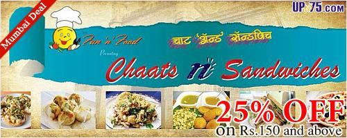 Chaats N Sandwiches offers India