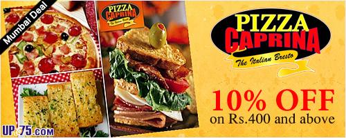 Pizza Caprina offers India