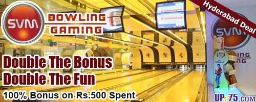 SVM Bowling and Gaming offers India