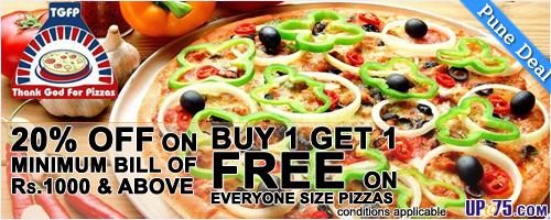 Thank God For Pizzas offers India