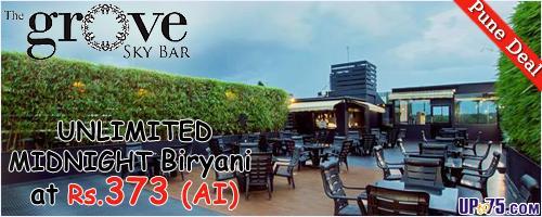 The Grove Sky Bar offers India