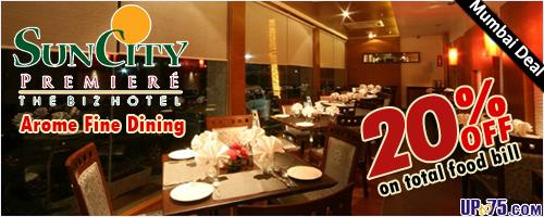 Arome Fine Dining offers India