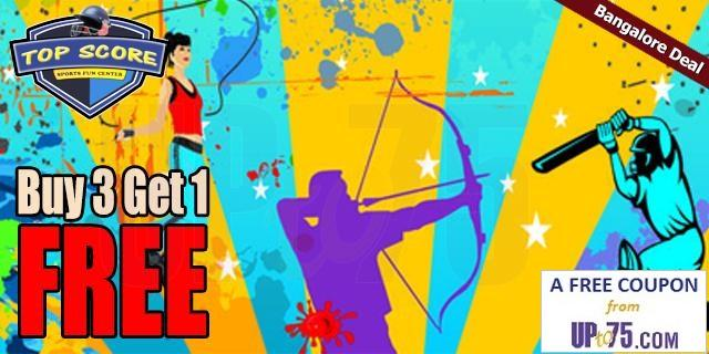 Top Score Sports Fun Center offers India