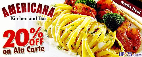 Americana Kitchen and Bar offers India