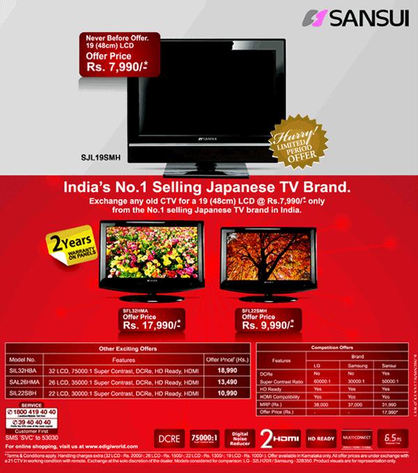 Sansui offers India