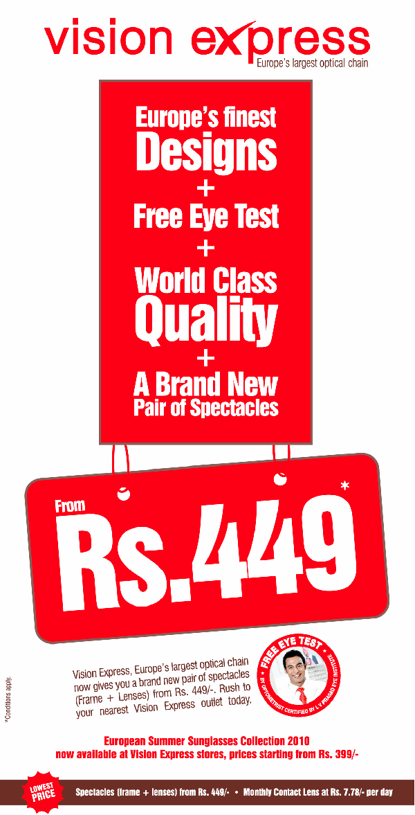 Vision Express offers India