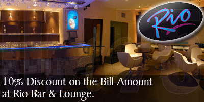 Rio Bar & Lounge offers India
