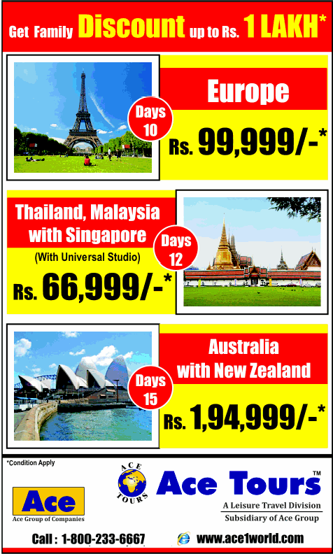 Ace Tours offers India