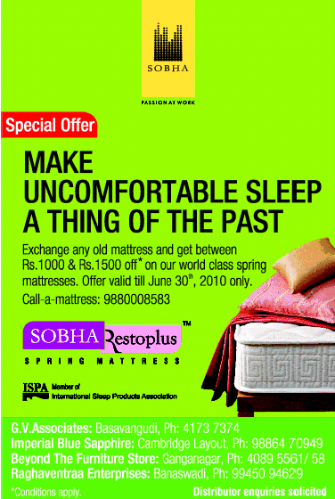 Sobha Resto Plus offers India