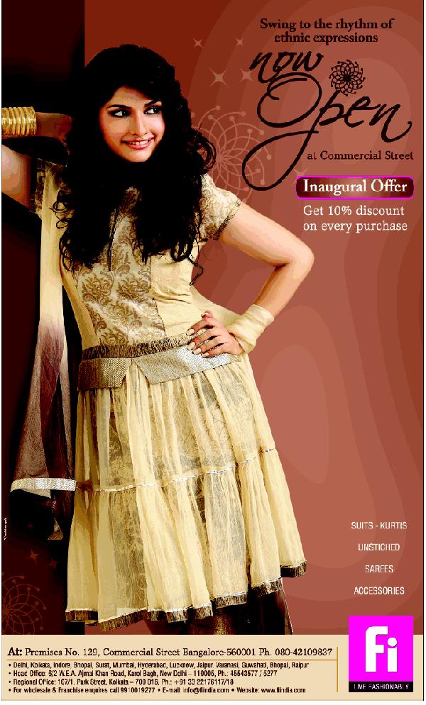 Fi fashion i offers India