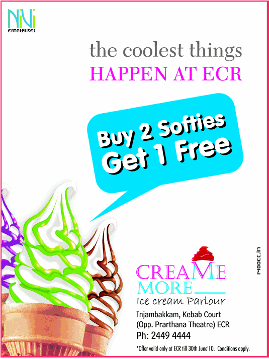 cream more offers India