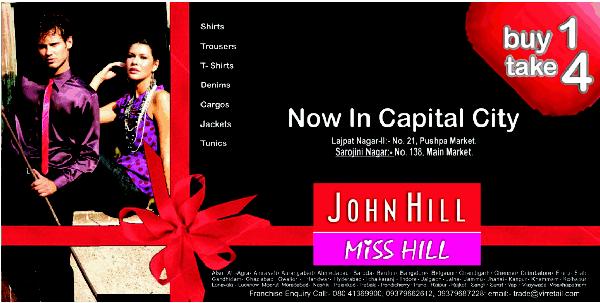 John Hill Miss Hill offers India
