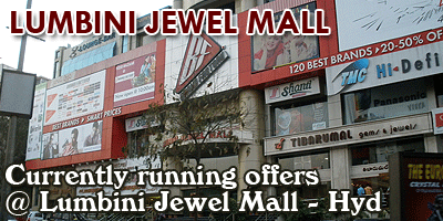 Lumbini Jewel Mall - Hyderabad Sale Offers India