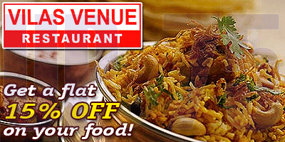 Vilas Venue Multicuisine Restaurant offers India