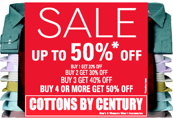 Cottons by Century offers India