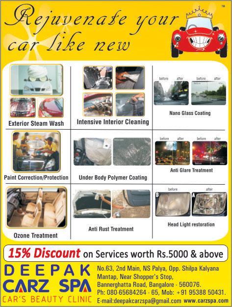 Deepak Carz Spa offers India