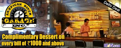 Garage Inc American Diner offers India