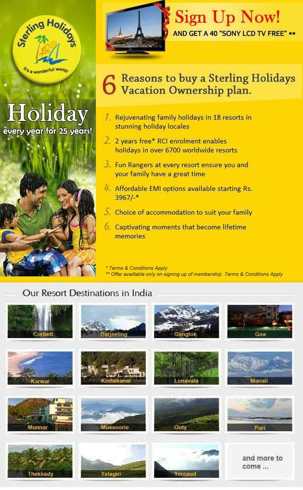 Sterling Holidays offers India