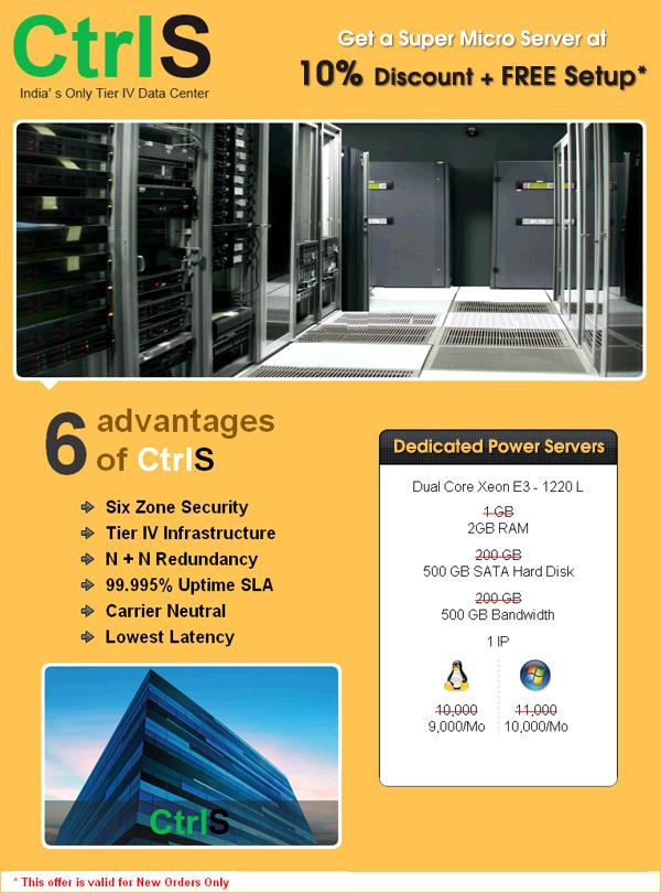 CtrlS Datacenters offers India